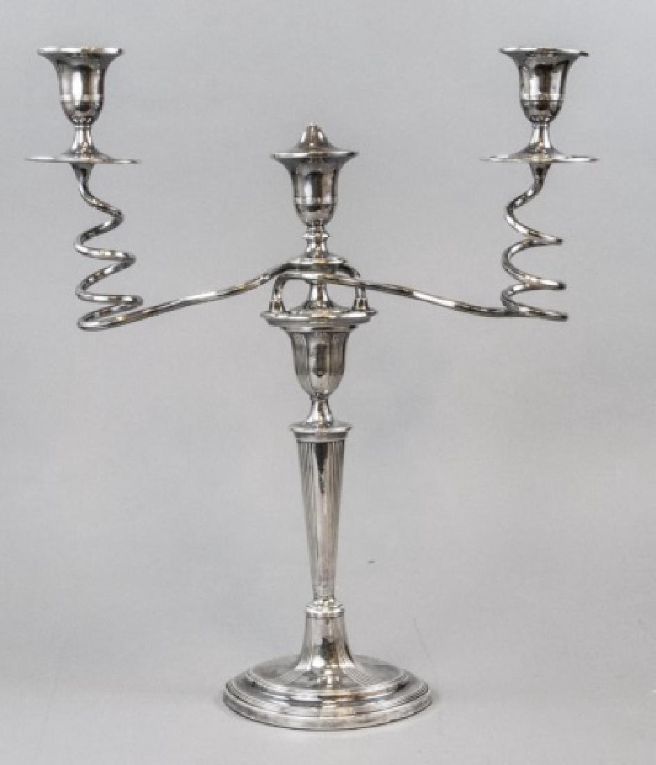 Large Antique English Double Arm Candelabra