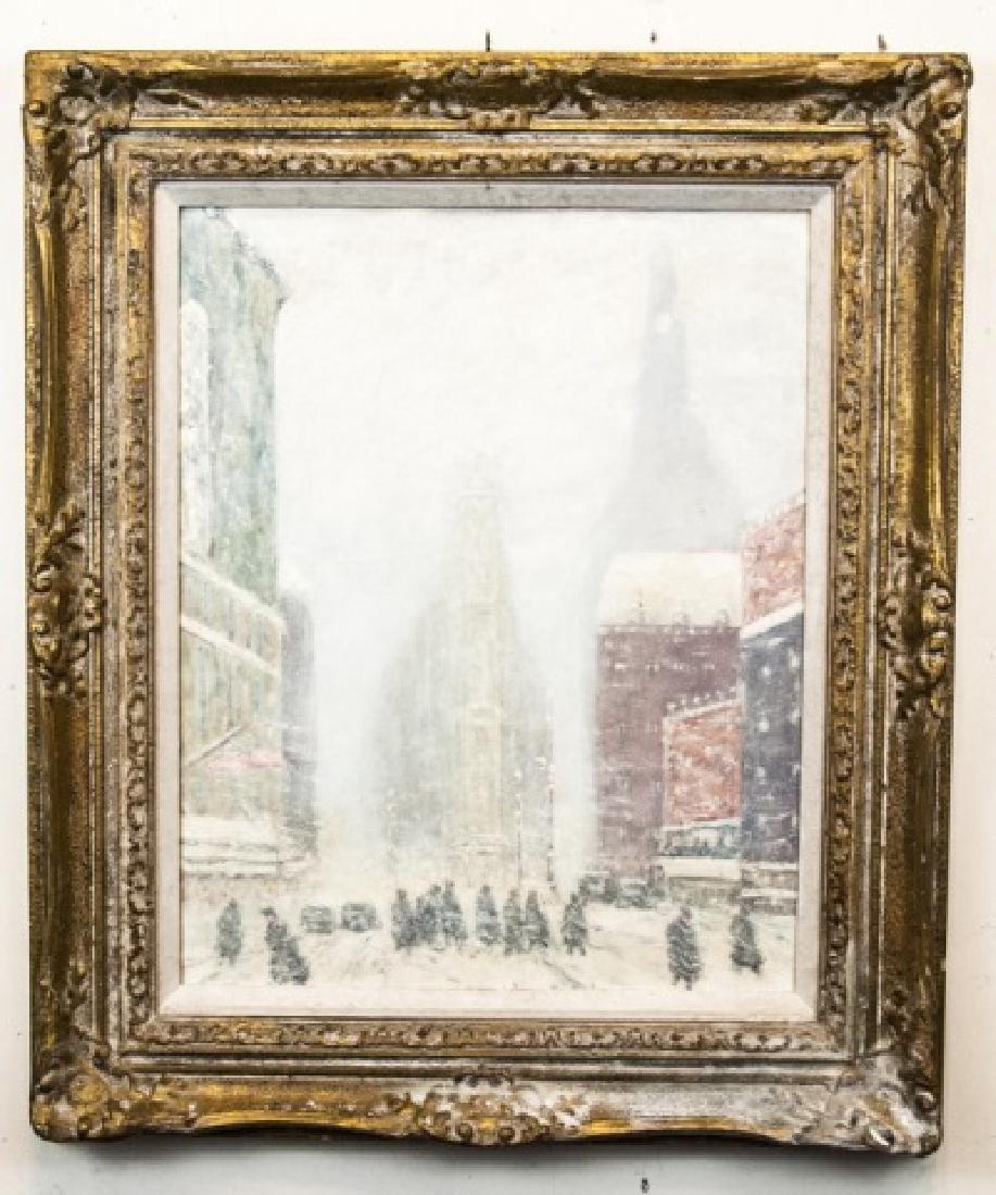 Johann Berthelsen New York City Oil Painting