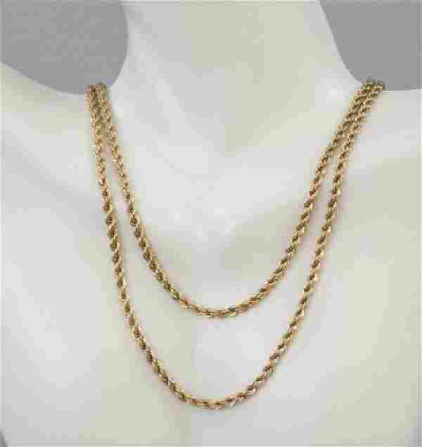 14kt Yellow Gold Italian Rope Chain Necklace