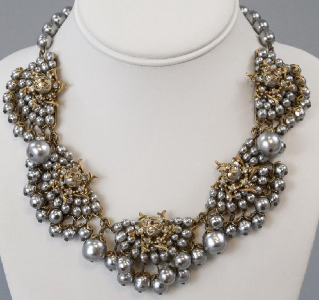 Vintage Miriam Haskell Faux Baroque Pearl Necklace