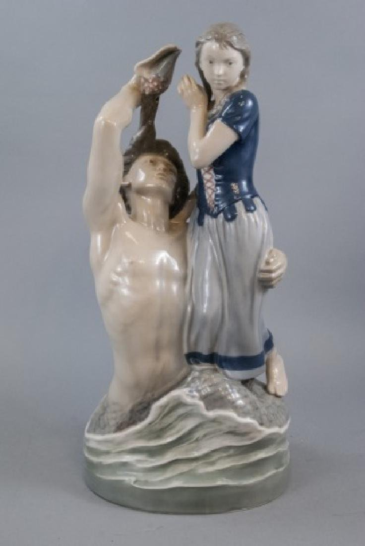 Monumental Royal Copenhagen Porcelain Statue 2of2