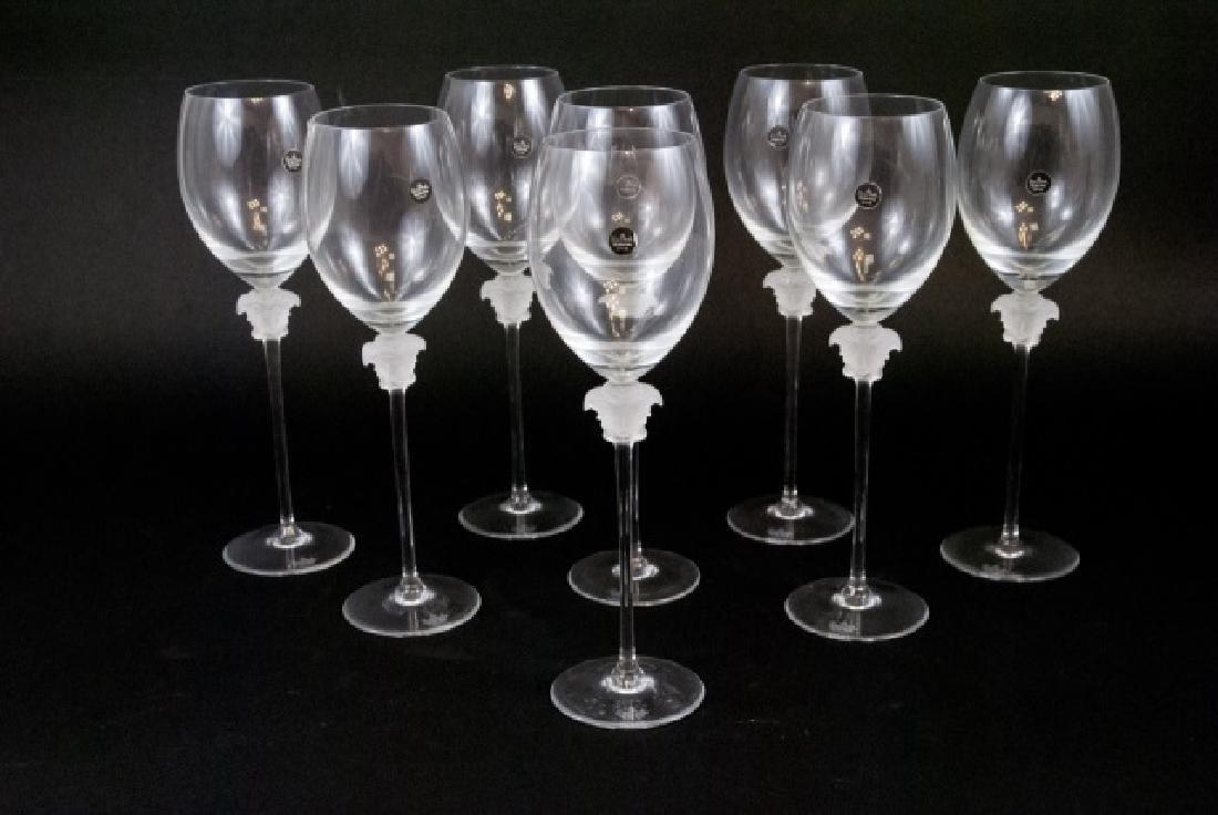 Set of Eight Versace Medusa Head Wine Goblets