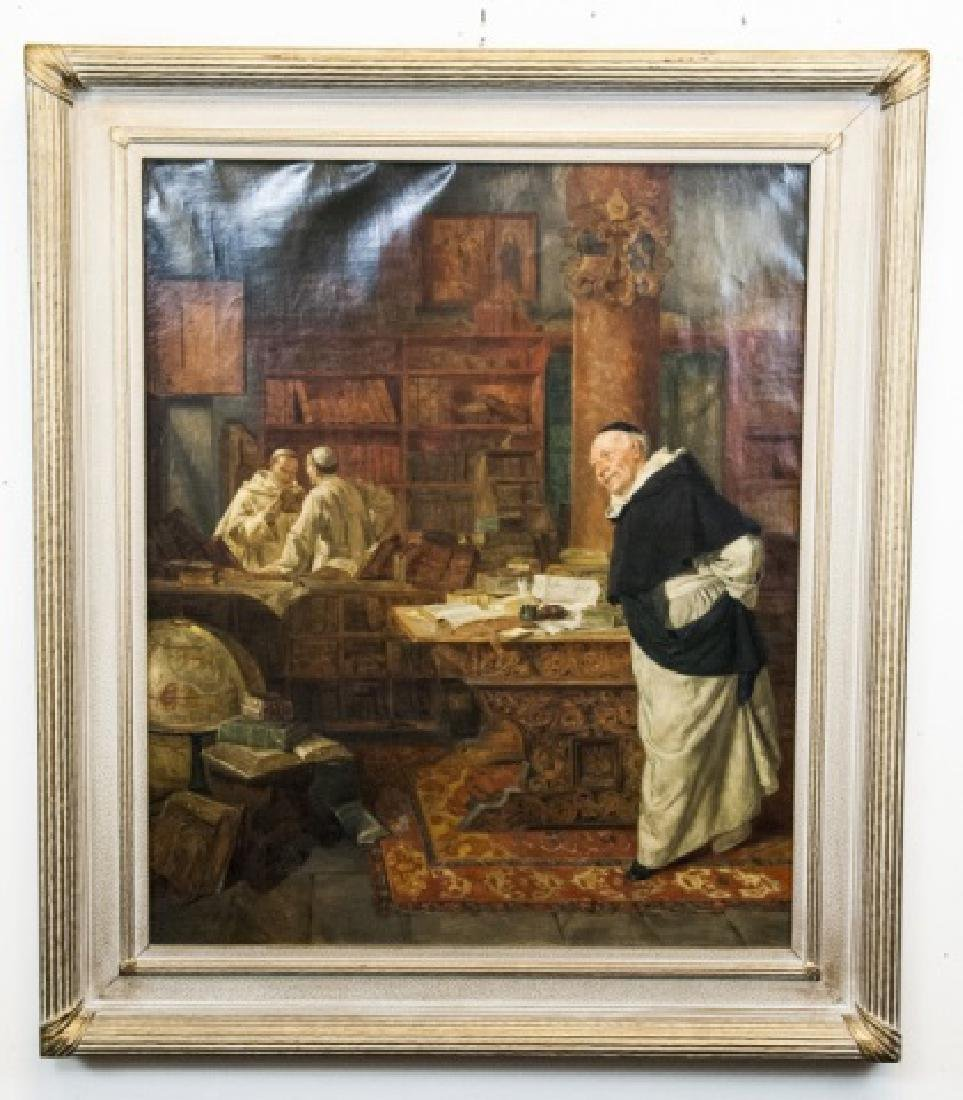 Antique Oil Painting on Canvas After E Grutzner