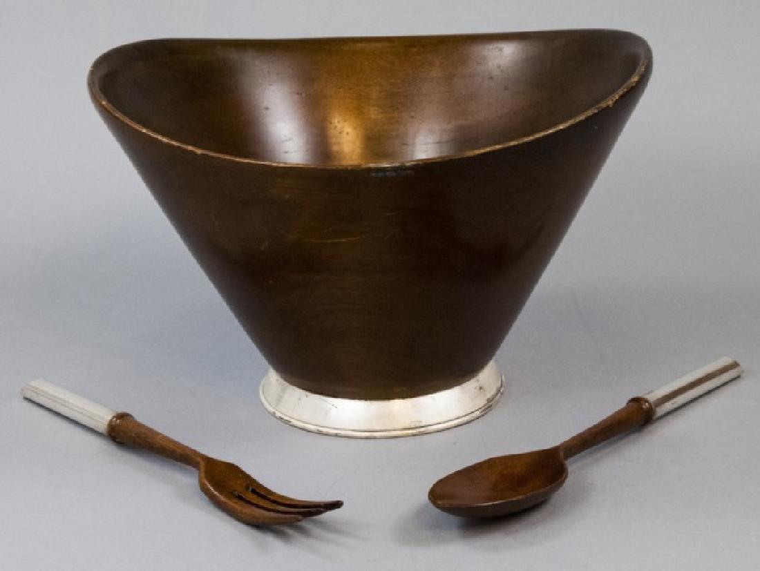 Mid Century Sterling Silver Mahogany Set by Jelba