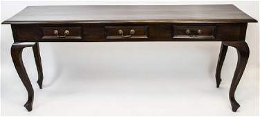 English Queen Anne Style Console / Sofa Table
