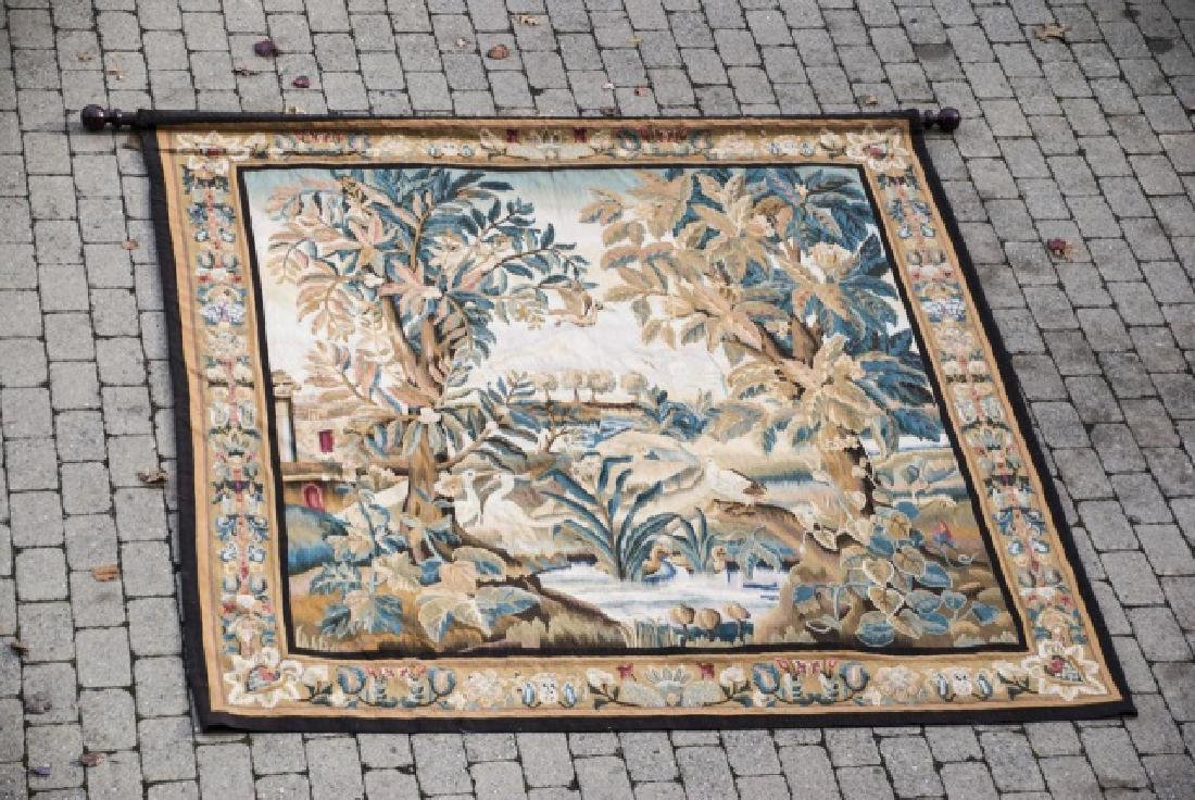 Large Antique Continental Aubusson Style Tapestry - 2