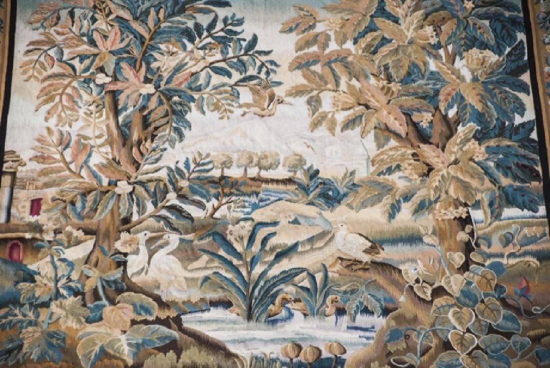 Large Antique Continental Aubusson Style Tapestry - 3