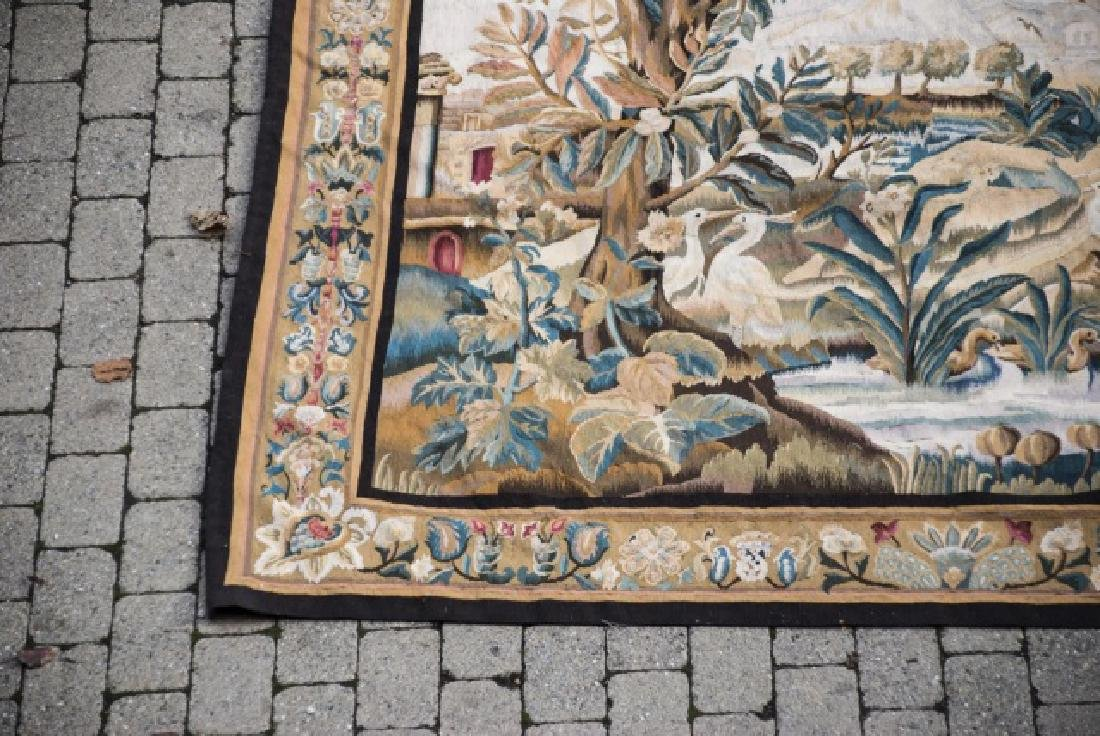 Large Antique Continental Aubusson Style Tapestry - 4