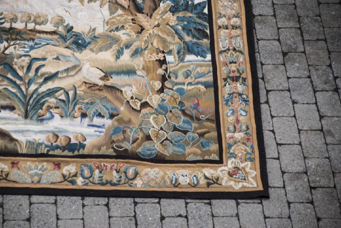 Large Antique Continental Aubusson Style Tapestry - 6