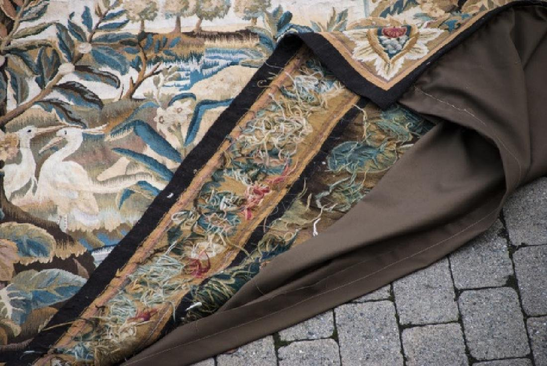 Large Antique Continental Aubusson Style Tapestry - 7