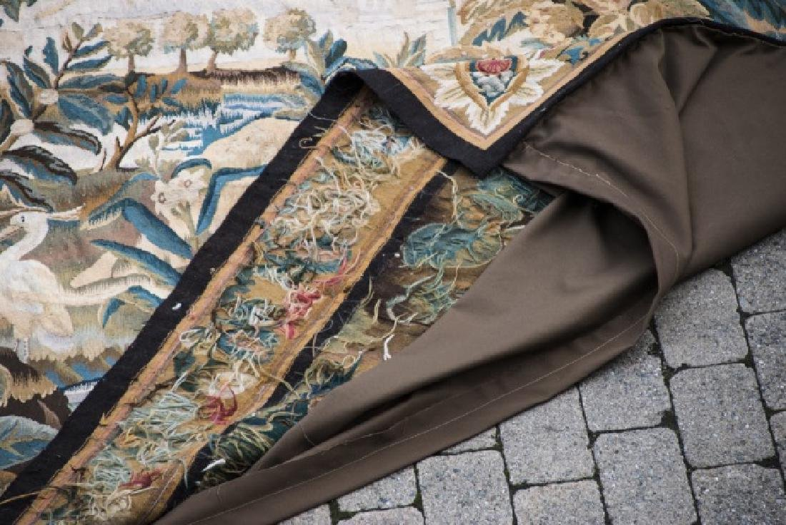 Large Antique Continental Aubusson Style Tapestry - 8