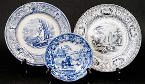 Antique English Ironstone & Transferware Plates
