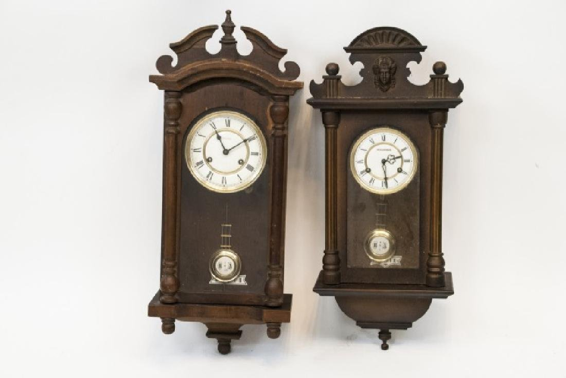 Two Vintage Wall Clocks by Bucherer & Empire