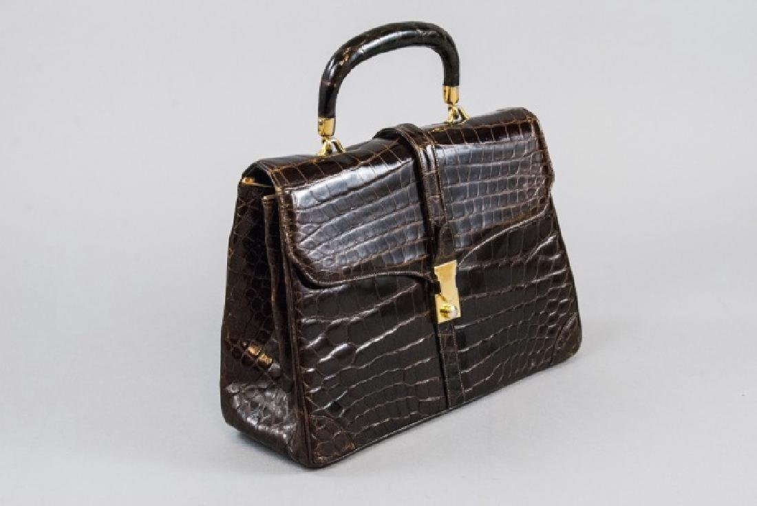 Vintage Lucille de Paris Alligator Purse Hand Bag - 2