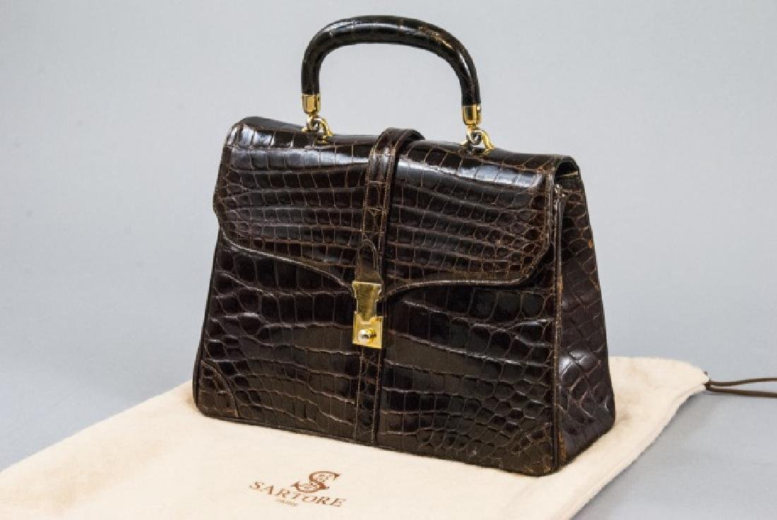 Vintage Lucille de Paris Alligator Purse Hand Bag - 4