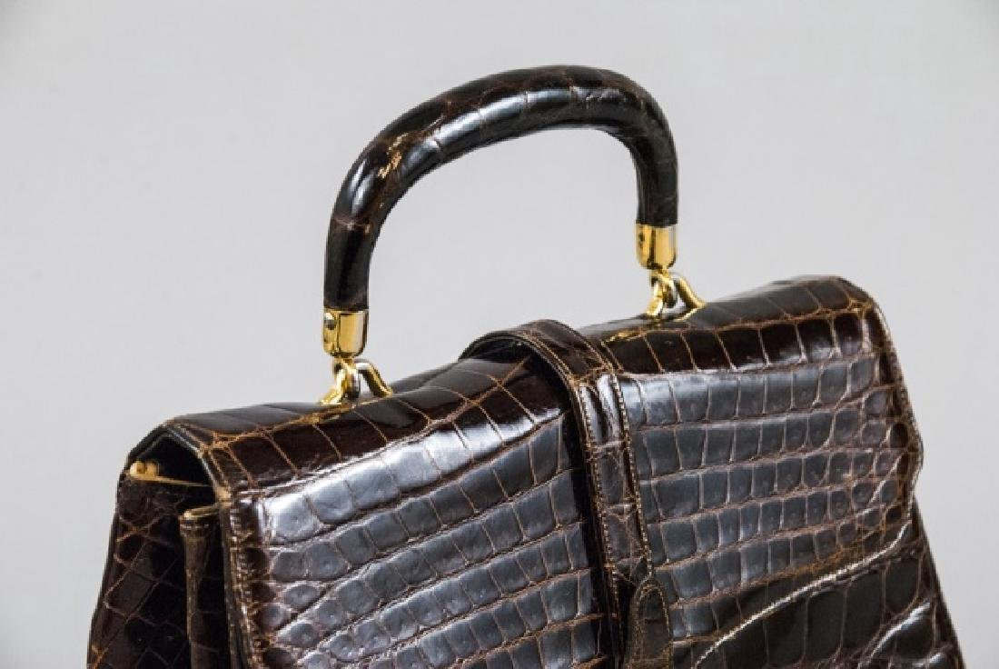 Vintage Lucille de Paris Alligator Purse Hand Bag - 6