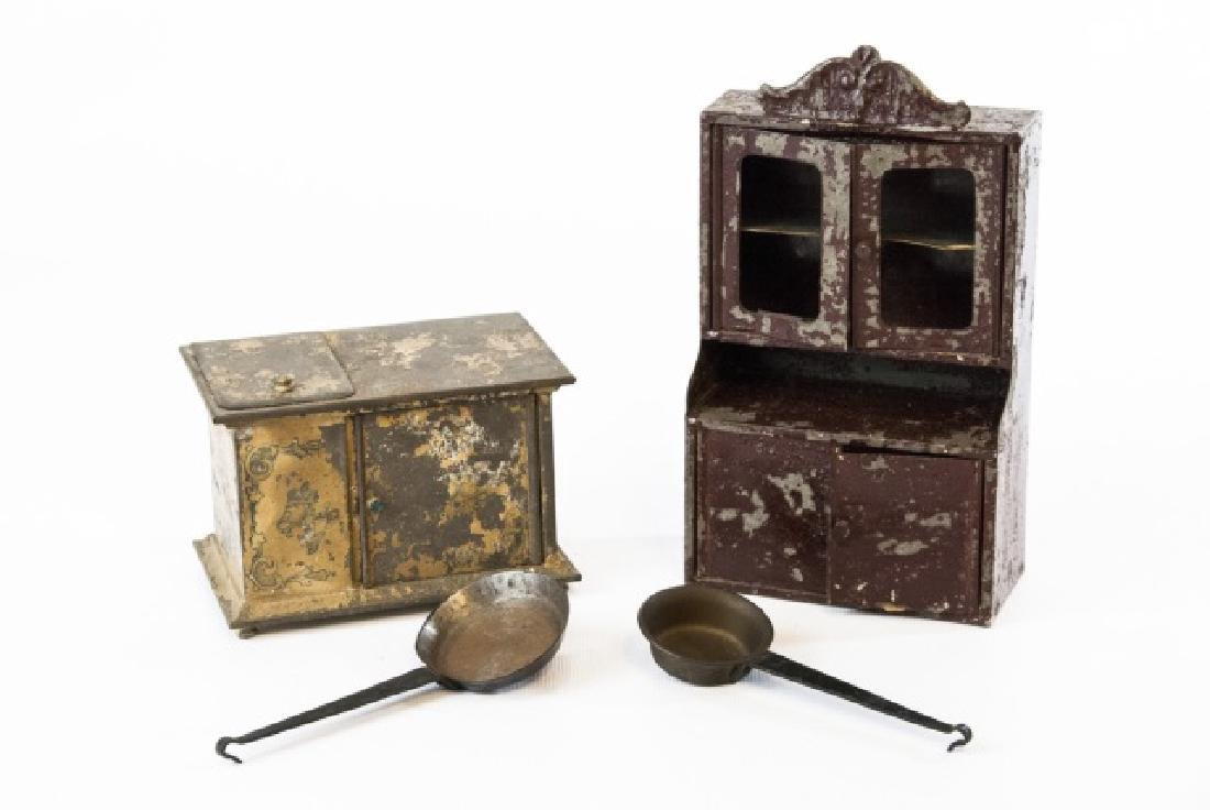 Antique 19th C German Dollhouse Kitchen Items