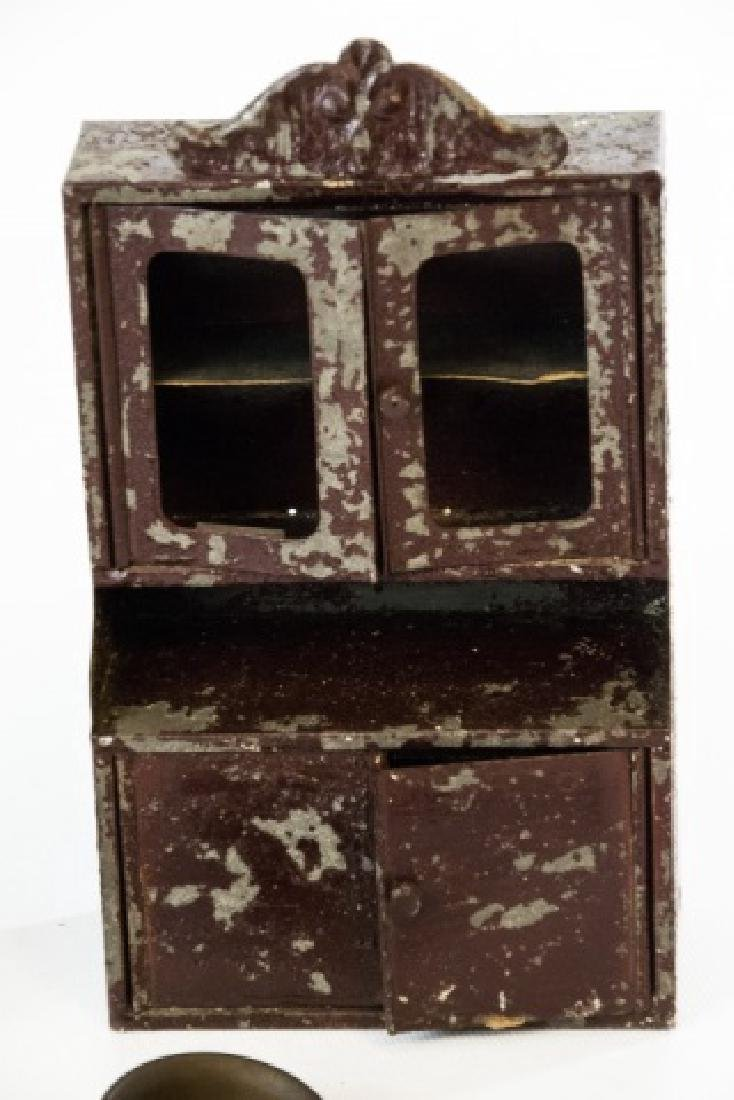 Antique 19th C German Dollhouse Kitchen Items - 4