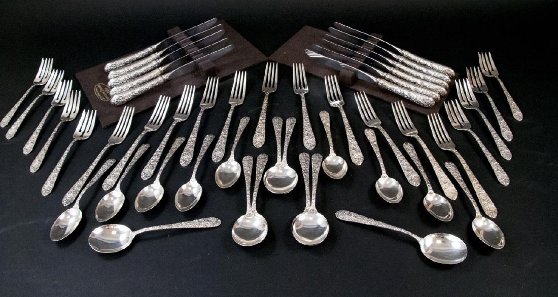 Sterling Silver Flatware Dinner Service by Alvin
