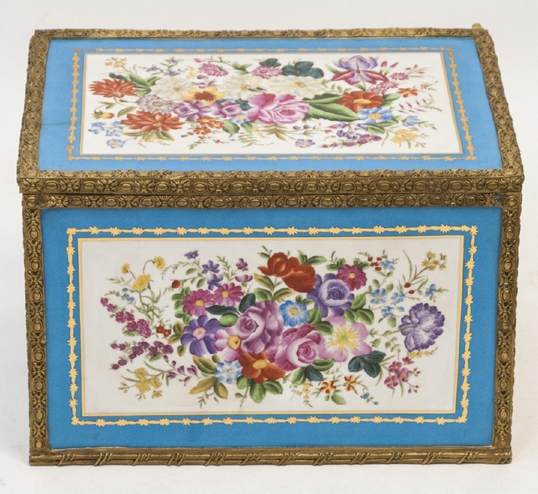 French Porcelain & Gilt Ormolu Sevres Style Box