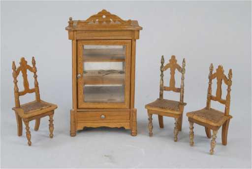 - Antique Dollhouse German Made Miniature Furniture