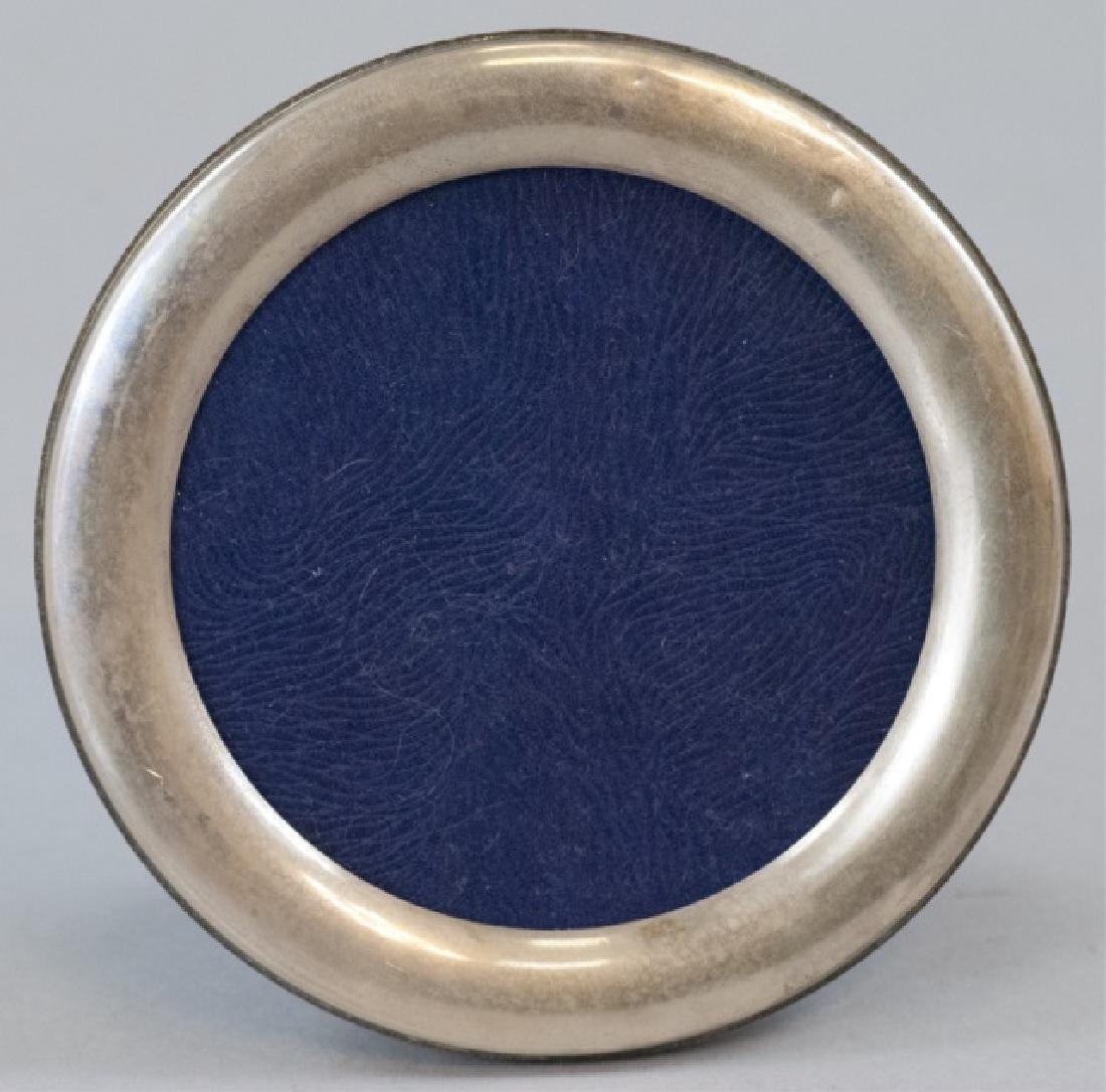 Round Sterling Silver Table Frame