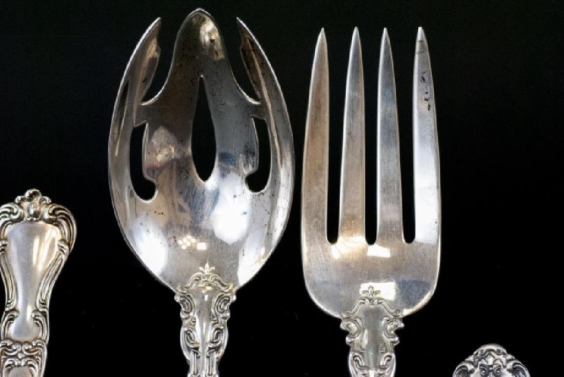 Antique Gorham Sterling Silver Serving Utensils - 6