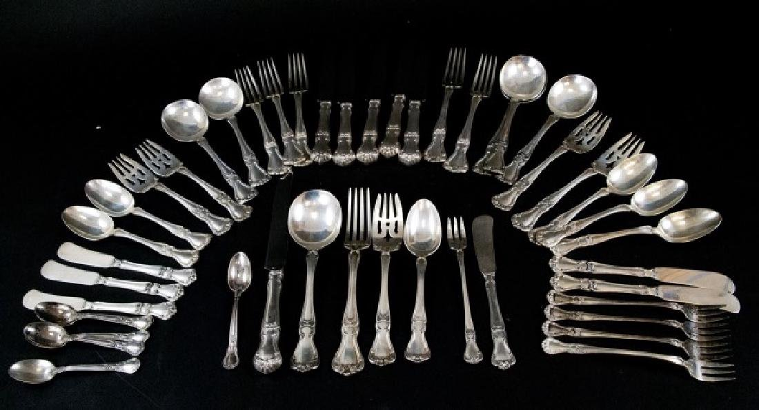 Antique Gorham Sterling Silver Serving Flatware - 7