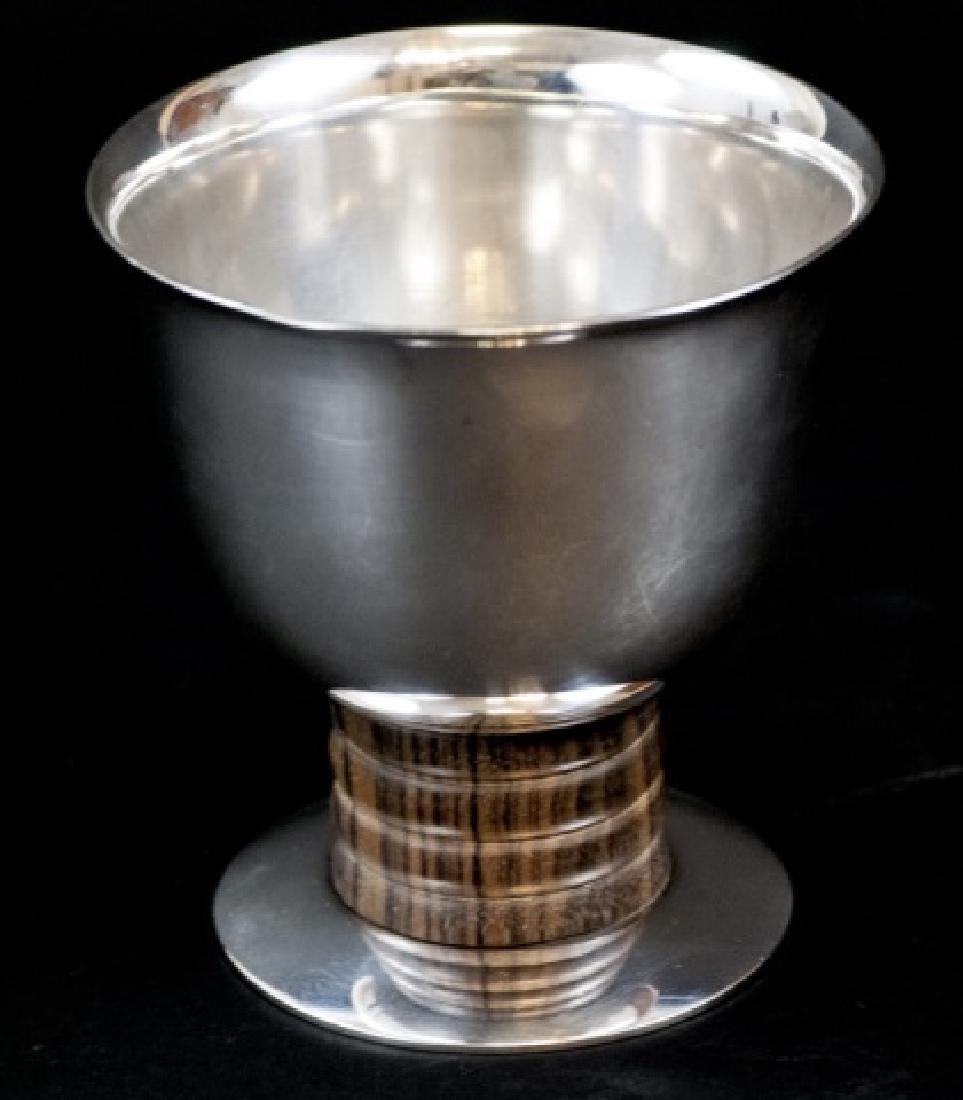 Art Deco Silver & Rosewood Ercuis Vase