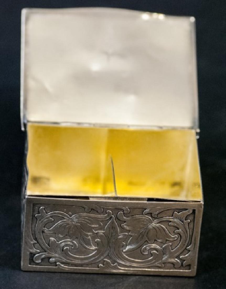 Sterling Silver & Jade Box Style of Edward Farmer - 2