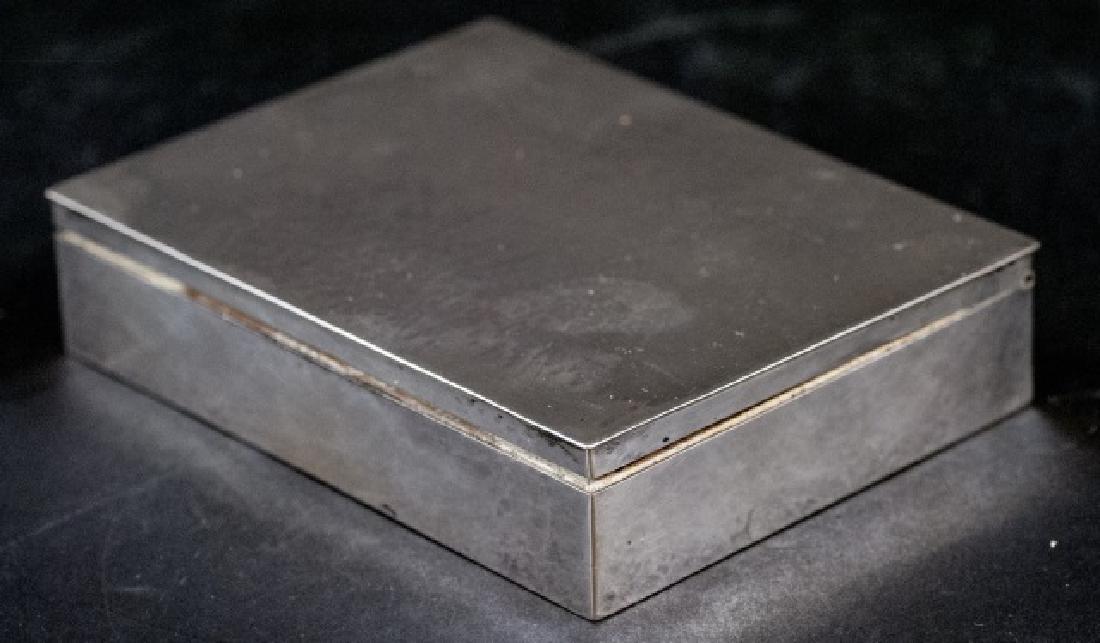Antique German Hand Hammered 800 Silver Box