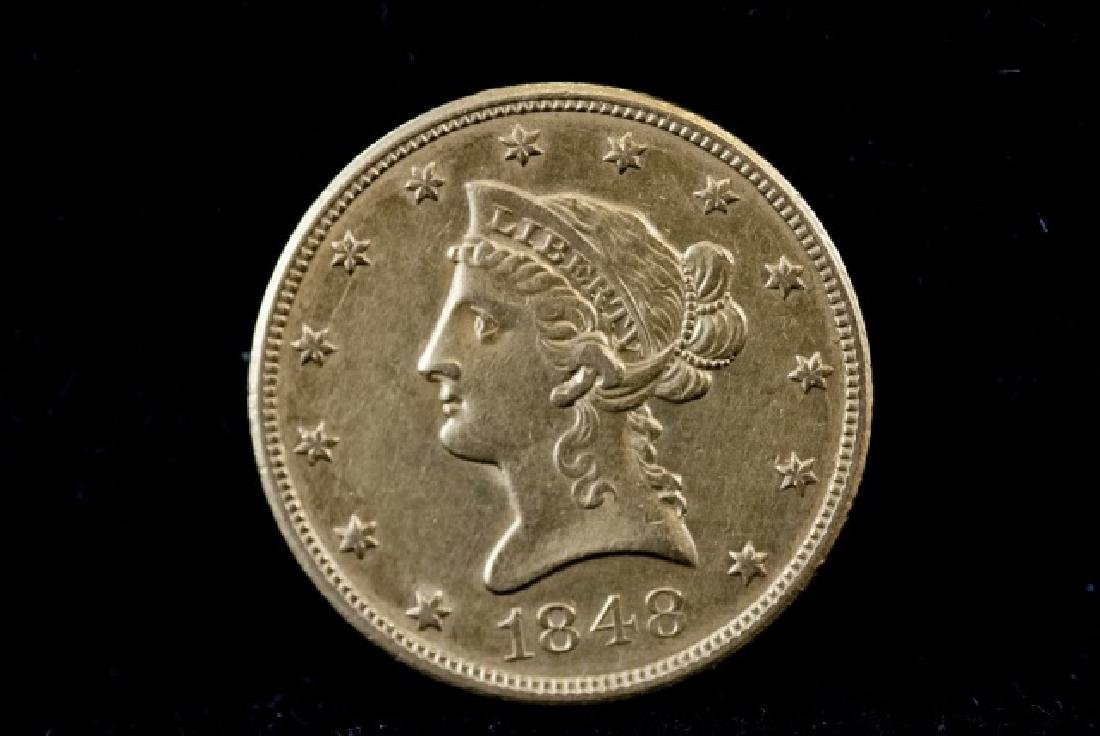 Antique United States 1848 $10 Gold Coin