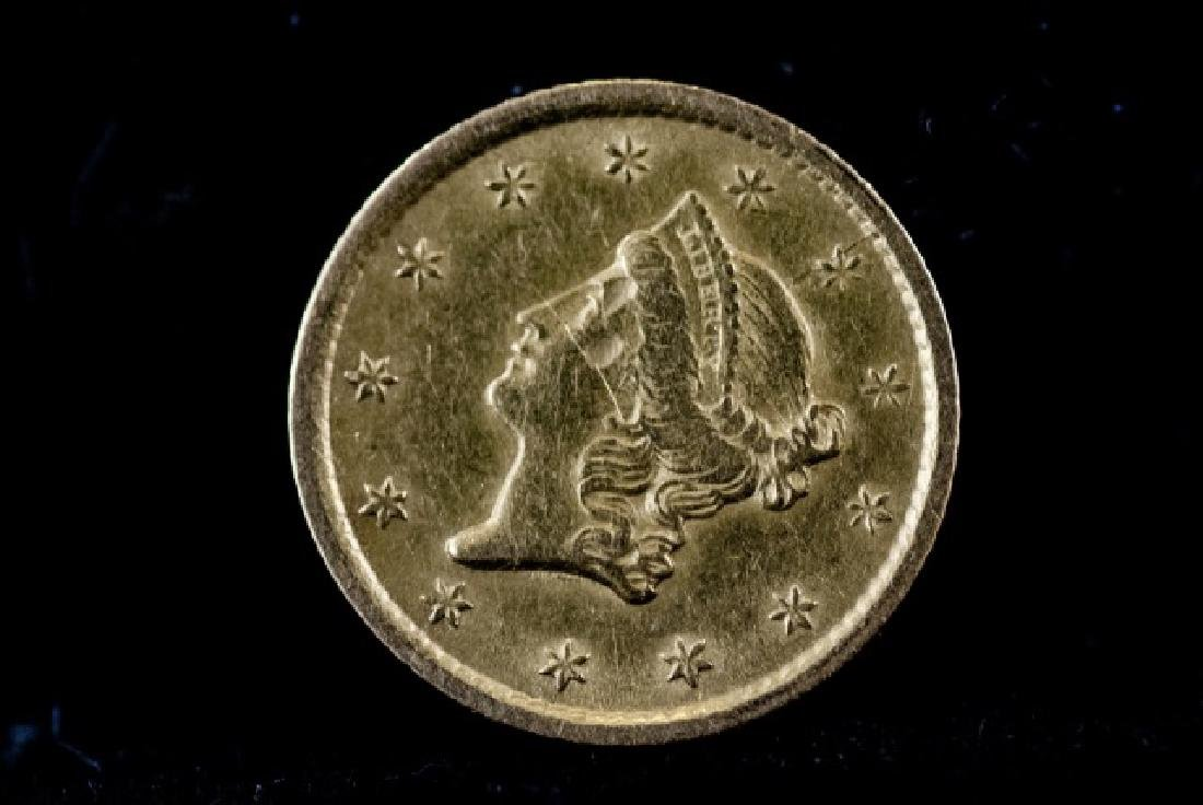 Antique United States 1852 O $1 Gold Coin