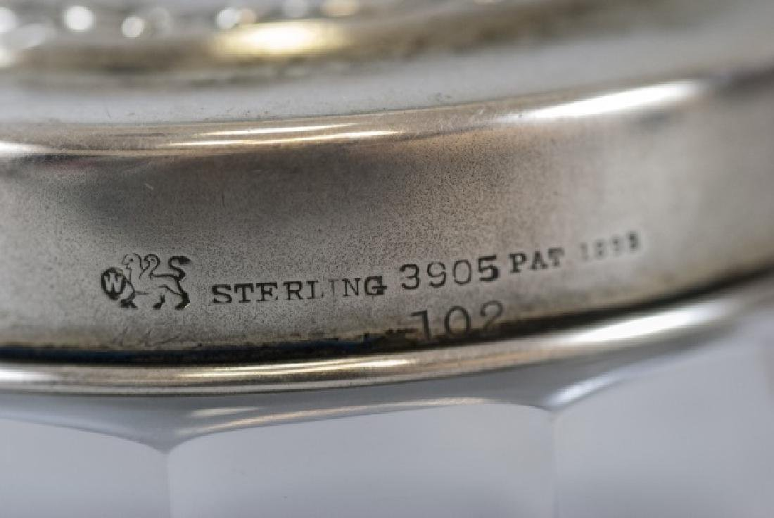 Antique 19th C Sterling & Amethyst Dresser Jar - 5