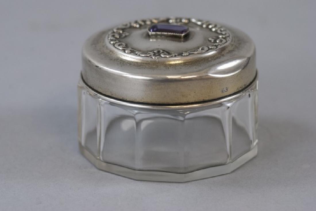 Antique 19th C Sterling & Amethyst Dresser Jar - 6