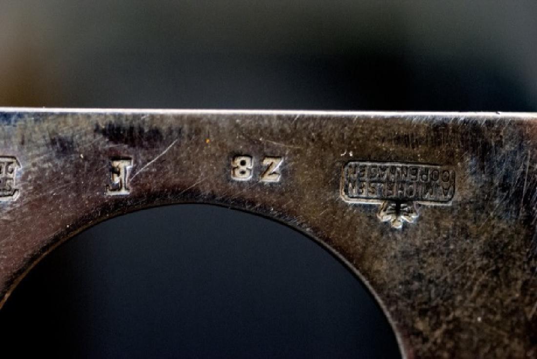 A Michelsen Copenhagen Denmark Sterling Match Case - 6