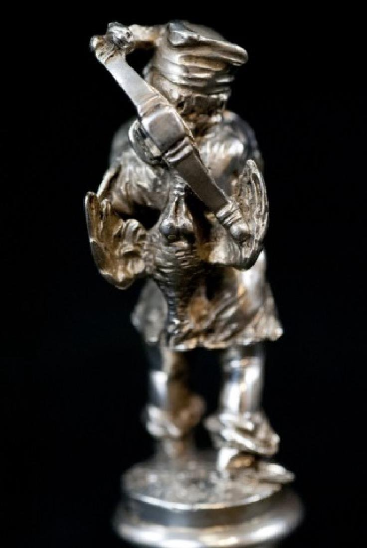 Augsburg German Solid Silver Statue of a Hunter - 2