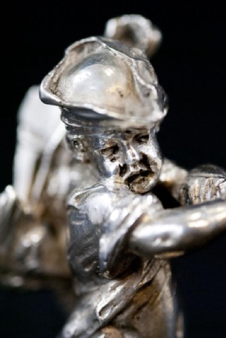 Augsburg German Solid Silver Statue of a Hunter - 4