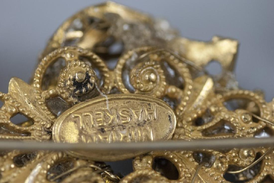 Vintage Miriam Haskell Pearl & Rhinestone Necklace - 6