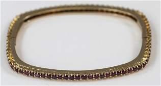 Estate 18kt Yellow Gold & 2.5 Carat Ruby Bracelet