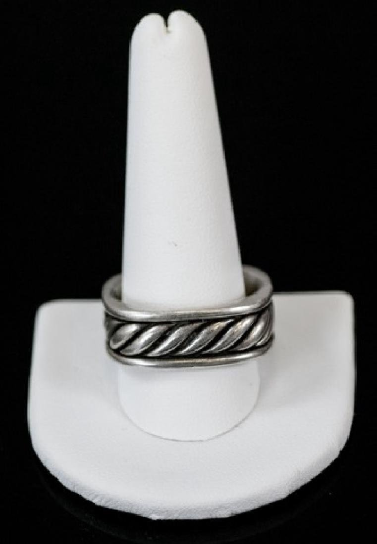 David Yurman Sterling Silver Men's Ring / Band - 3