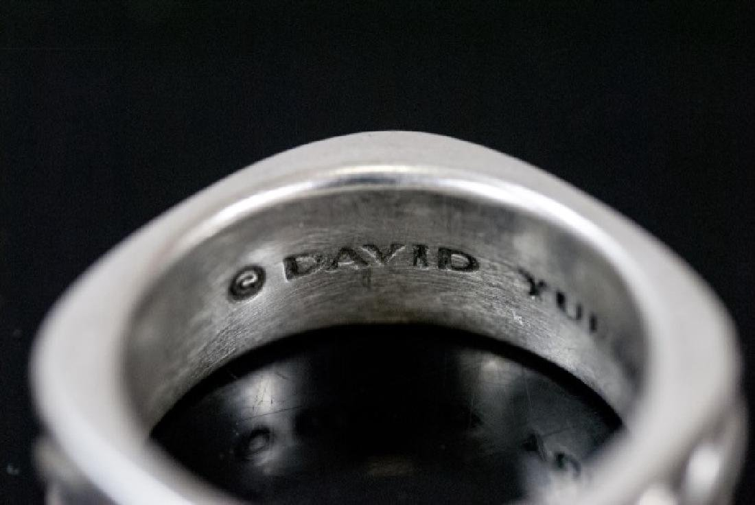 David Yurman Sterling Silver Men's Ring / Band - 4