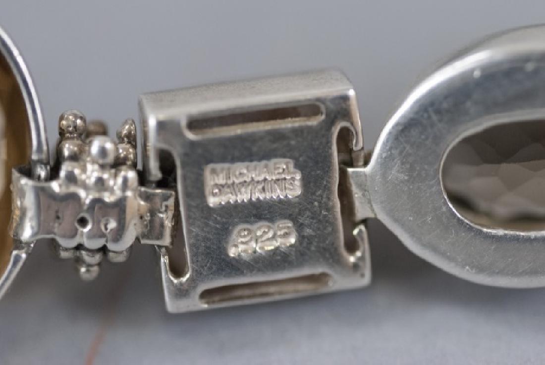 Sterling Silver Mutli Stone Modernist Bracelet - 3