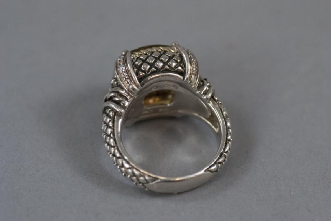 Andrea Candela 18kt Gold Diamonds & Sterling Ring - 11