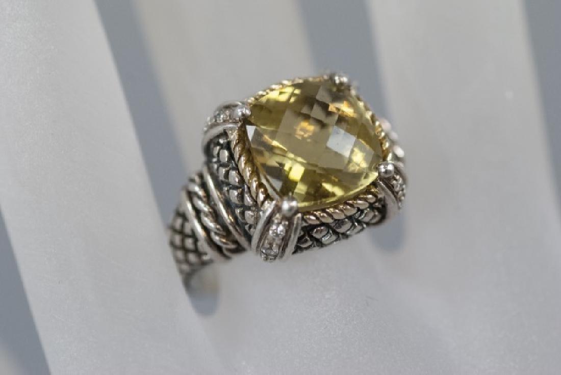 Andrea Candela 18kt Gold Diamonds & Sterling Ring