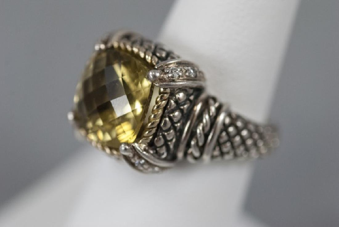 Andrea Candela 18kt Gold Diamonds & Sterling Ring - 9