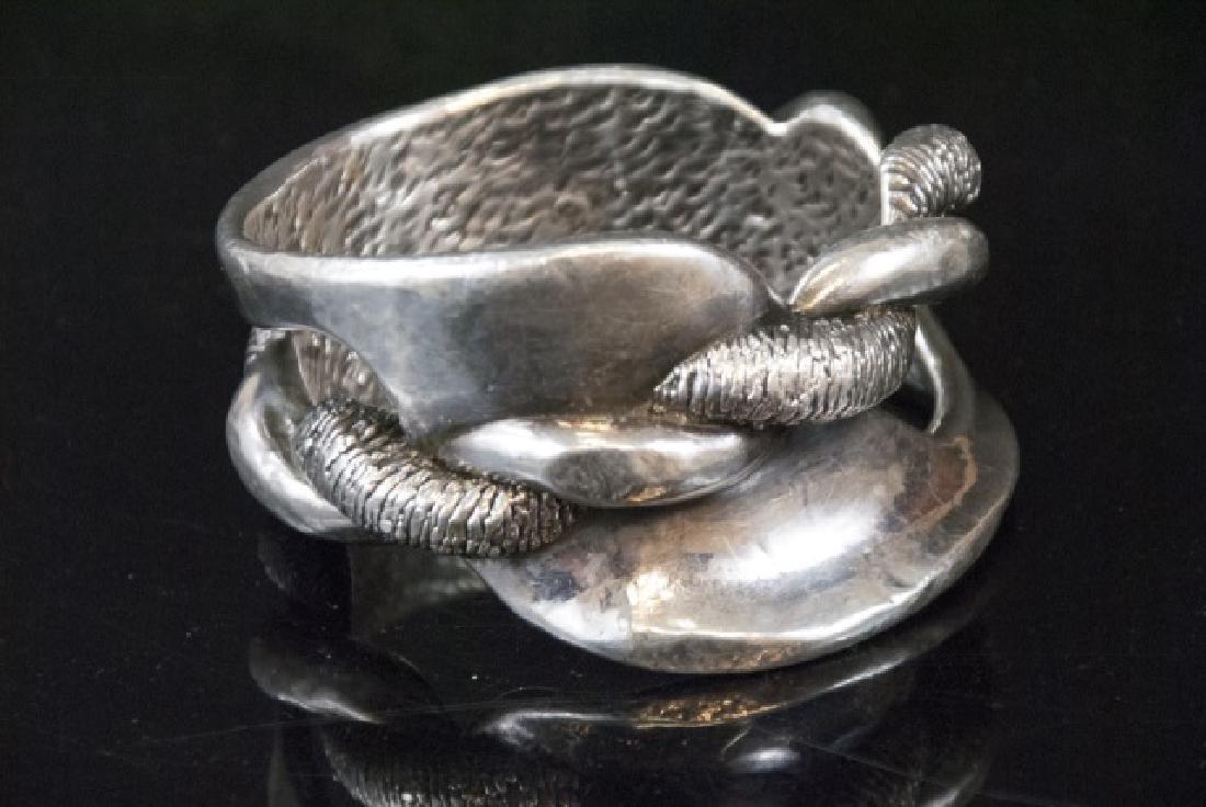 Unique Large Antique Sterling Silver Boggle