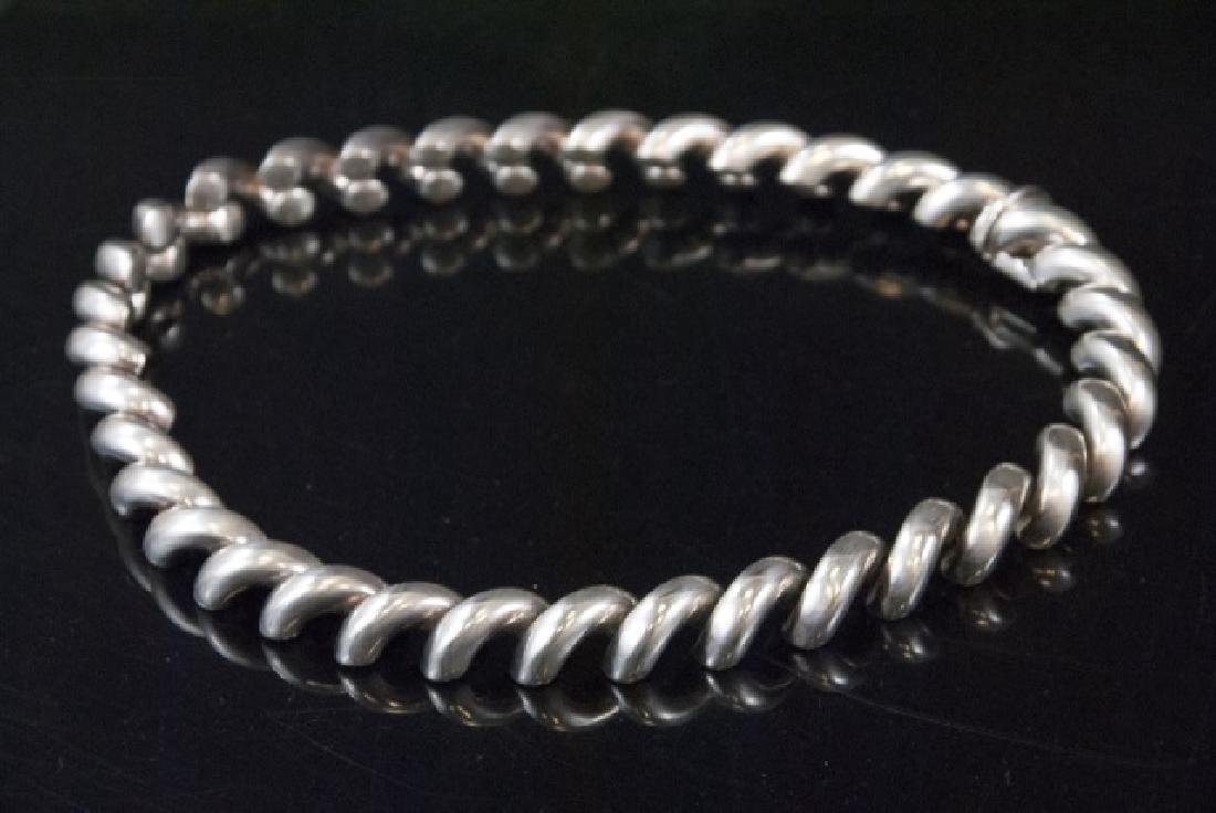 Italian Sterling Silver Thick Spiral Choker