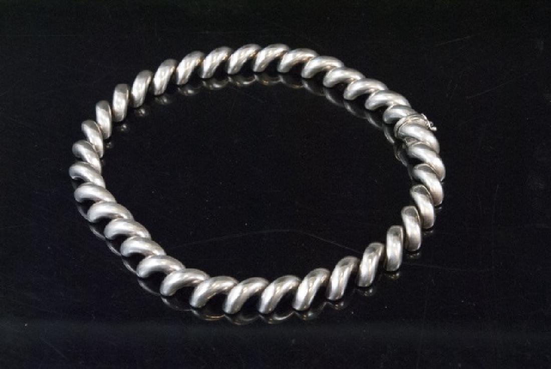 Italian Sterling Silver Thick Spiral Choker - 5