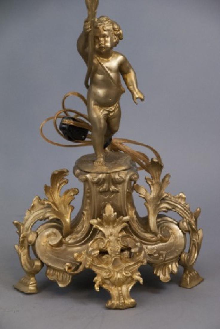 Pair French Rococo Gilt Bronze Ormolu Candelabras - 10